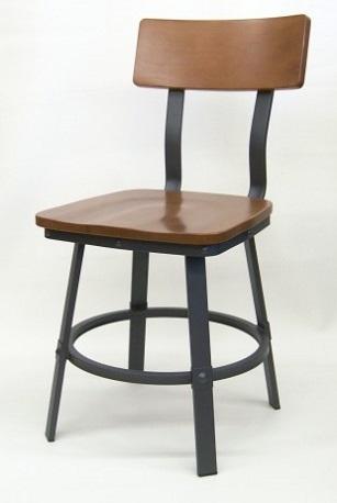 Industrial Rustic Wood Metal Chairs