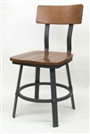 Industrial Rustic Wood /Metal Dining Chair
