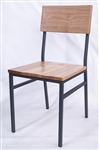 Solid OAK Wood Metal Industrial Chair