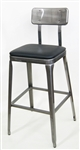 Industrial Metal Chair in Pewter Glossy. Weight 24 lbs