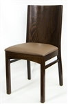 Wood Grain Back Restaurant Dining Chair