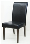 Black Upholstered Restaurant Dining Chair