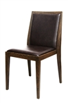 Modern Upholstered Wood Grain Dining Chair