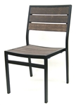 Teak Wood Weathered Bistro Dining Chairs