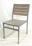 Teak Slat Grayish Brown Bistro Chair