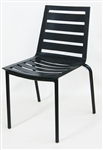 Outdoor Aluminum Black Chair Multi-Slat Seat and Back