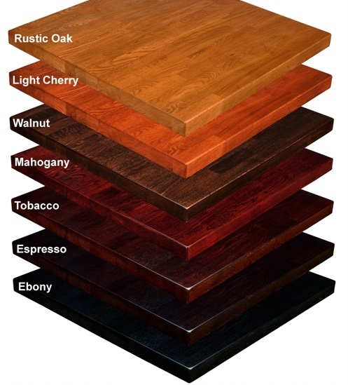 Restaurant Wood Stained Table Tops