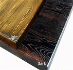 Restaurant Rustic Wood Tabletops; LIGHT or DARK