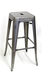"Pewter Grey Counter Stool Backless 30""h"