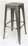 Raw Welding Metal Industrial Backless Bar Stools