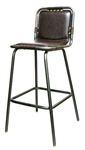 Industrial Bar Stool Padded Grommets Seat Design
