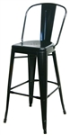 Industrial Black Metal Bar Stools
