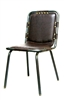 Industrial Padded Metal Chair