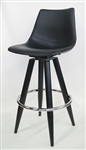 Upholstered Swivel Metal Bar Stool