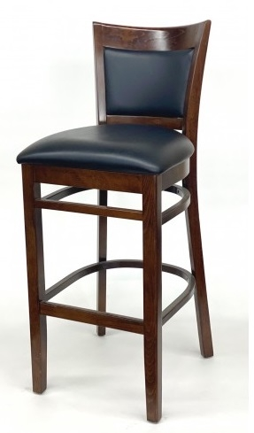 Upholstered Wood Restaurant Dining Bar Stool