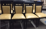 Ritz: Modern Upscale Upholstered Restaurant Wood Dining Chair
