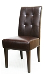 Tufted Leatherette Parson Dining Chair