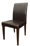 Espresso Metal Wood Upholstered Dining Chair