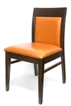 Restaurant Walnut and Espresso Wood Stains Upholstered Dining Chair