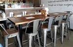Rustic Live Edge Black Walnut Plank Wood:  Restaurant Picture