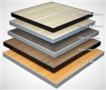 Aluminum Teak / Outdoor Aluminum Patio Table Tops