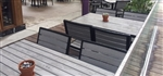 Teak Faux Slat Bistro Outdoor Slat Table Tops