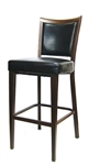 Restaurant Furniture, Metal Wood Grain Upholstered Bar Stool