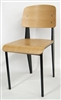 Modern Sleek Black Metal Dining Industrial Chair