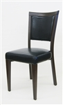 Modern Wood Grain Metal Upholstered Dining Chair