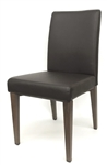Wood Grain Metal Leatherette Chairs with Espresso frame and vinyl