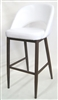 Modern Upholstered White Metal Bar Stool