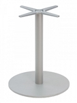 Round Silver Restaurant Table Base