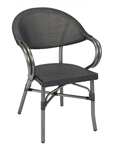 Silver Mesh Silver Rattan Arm Chair