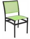 Batyline Mesh White Patio Dining Chairs Restaurant Furniture