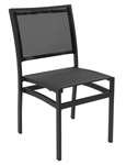 Bistro Seating Mesh Black/Black Patio Dining Chairs