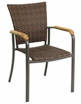 Safari Restaurant Teak Arm Dining Chair