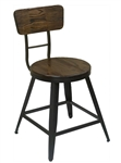 Industrial Rustic Wood Metal Chair