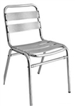 Aluminum Side chair with slats