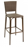 Walnut Frame with Java Wicker Outdoor Dining Chair