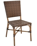 Bamboo Golden Safari Wicker Outdoor Dining Chair