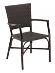 Cafe Seating: Bamboo Aluminum frame with Nylon weave