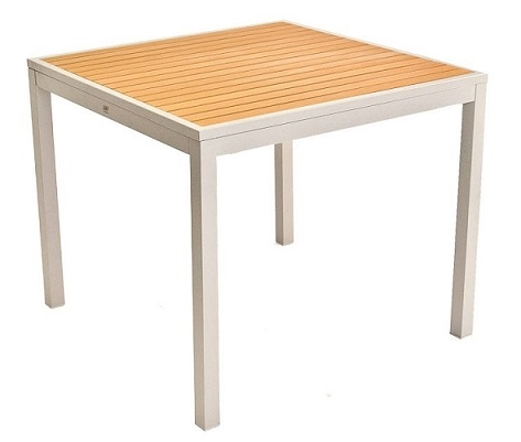 05 Teak Faux Inlay Outdoor Dining Tables To 36 X 70