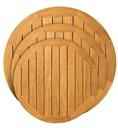05 Teak Solid Wood Bistro Table Tops