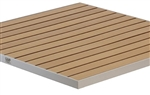TEAK Slat Outdoor Tabletops with Black,Grey, Edge