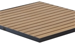 Teak Slat Inlay with Black Aluminum Edge