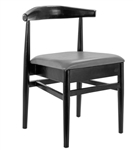 Black Floating Back Restaurant Dining Chair
