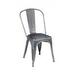 Industrial Metal Chair Distressed Clear Finish