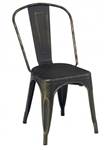 Copper Distressed Finish Industrial Chair