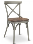 Cross Back Metal Farm House Chair