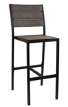 Teak Faux Wood Bistro Chair: Brushed Brown